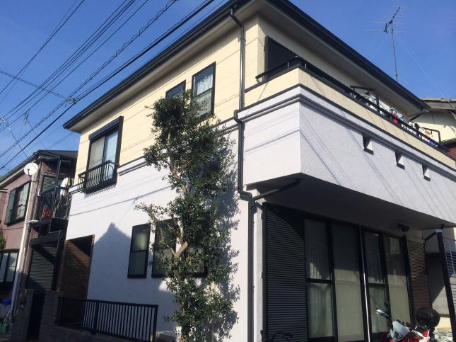 春日部市 屋根外壁塗装リフォーム S様邸