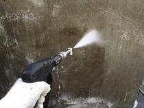松戸市U様邸 コンクリート再生塗装 高圧洗浄