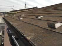 松戸市アパート 屋根塗装リフォーム前