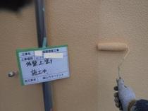 松戸市K様邸 外壁上塗り中
