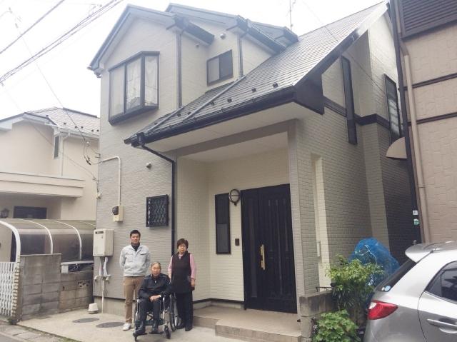 市川市M様邸 屋根外壁塗装リフォーム※一部外壁カバー工法