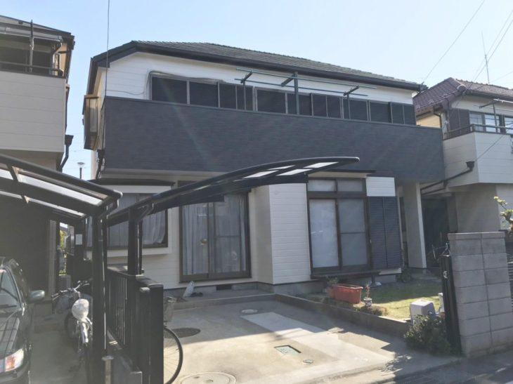 柏市N様邸 屋根カバー・外壁塗装リフォーム 一部サイディング張替え