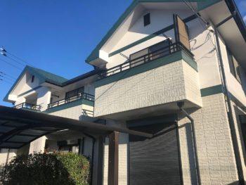 柏市W様邸 屋根外壁塗装・玄関ドア交換リフォーム