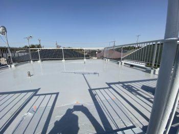 市川市M様邸 屋上防水・鉄骨階段塗装