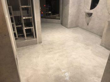 中央区銀座ヘアサロン様 床塗装工事