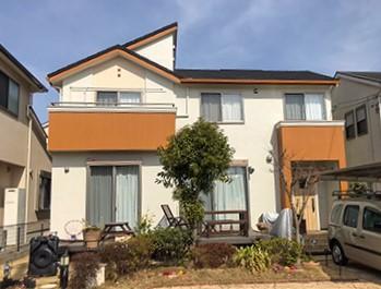 柏市にて屋根カバー・モルタル外壁塗装工事から3ヶ月点検